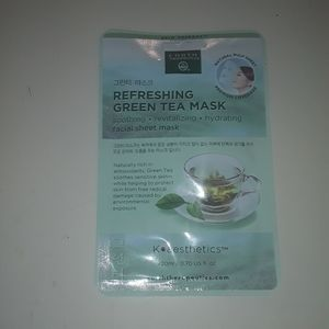 Refreshing green tea facial mask.